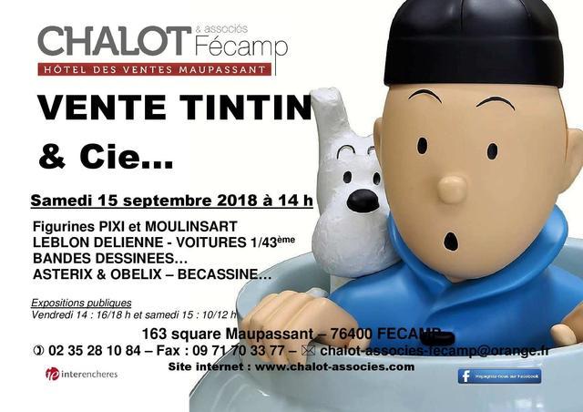 En préparation : VENTE TINTIN & Cie à FECAMP :   Figurines PIXI