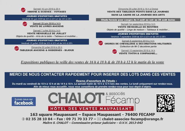En préparation : VENTE MENSUELLE CATALOGUEE DE JUILLET à FECAMP Merci