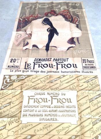 Affiche Le Frou-Frou illustrée par Weiluc. Imp. La Lithographie nouvelle