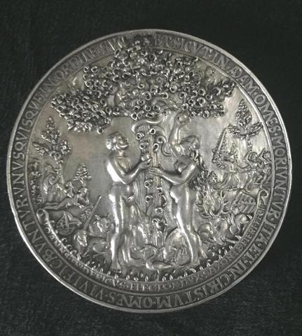 Hans REINHARDT (env. 1510-1581), médaille en argent monogrammée