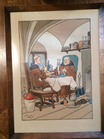 """Harry ELIOTT (1882-1959) """"Le repas et les crèpes"""" Deux estampes signées"""