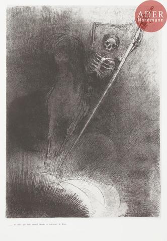 Odilon REDON Apocalypse de saint Jean. 1899. Lithographie. 630 x