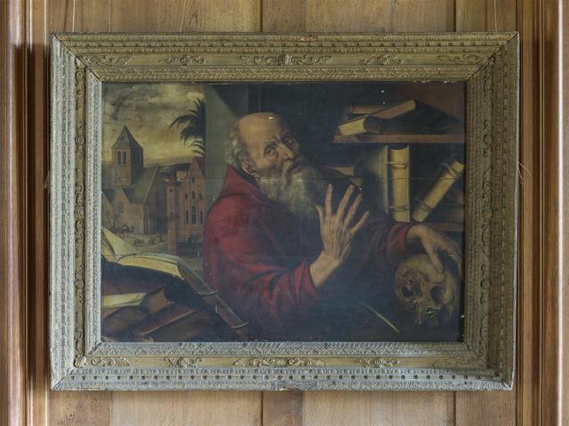 Jan massys anvers 1509 1575 saint j r me dans son for Ameublement st jerome