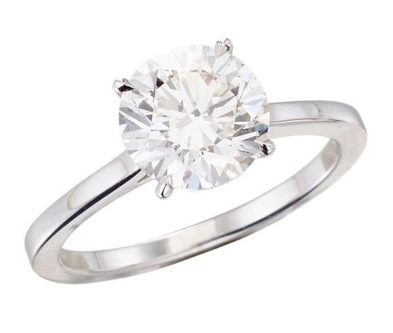 Magnifique solitaire en or blanc serti d'un diamant taille brillant