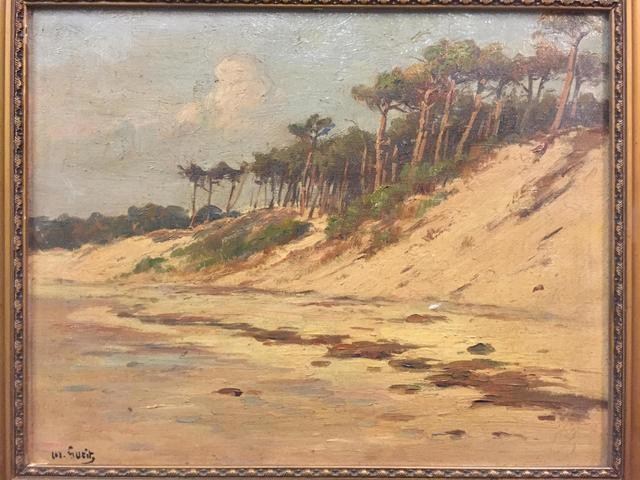 (30) - Louis Marius GUEIT (1877-1956), paysage des Landes, huile sur