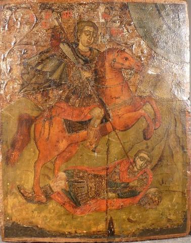 Icône. St Demetrios. XVIIIème. 35 x 28 cm.