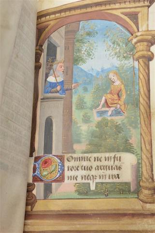 LIVRE D'HEURES XVe.Livre d'heures à l'usage de la Vierge du XVe