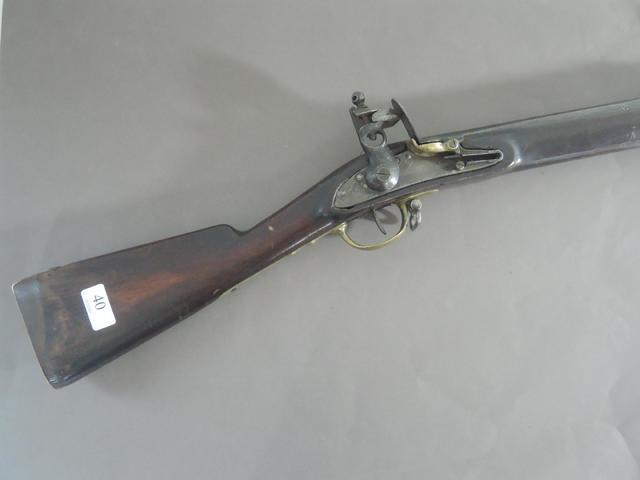fusil réglementaire  belge genre An IX (remis à silex). ABE