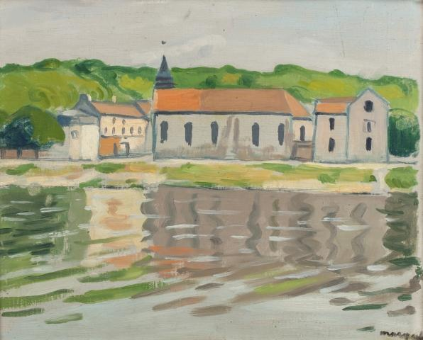 Albert MARQUET (Bordeaux 1875 - Paris 1947)  La Seine A Herblay, Automne