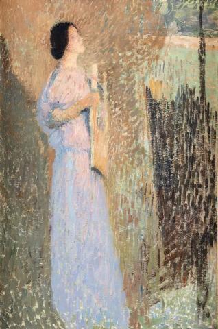 Henri MARTIN  (Toulouse 1860 - La Bastide du Vert 1943)  Etude pour