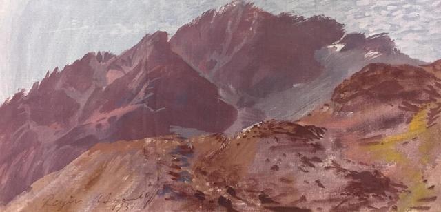 ALEXANDER EVGENEVICH IACOVLEFF (1887-1938), « Paysage de Montagnes