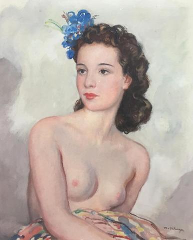 MAURICE AMBROISE EHLINGER (1896-1981), « Le modèle », Huile sur
