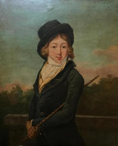 ECOLE FRANCAISE VERS 1840, « Portrait d'AUGUSTE VESTRIS », Huile