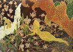 KARPOFF Vladimir (1904-1985). Adam et Eve au Paradis. Grand panneau