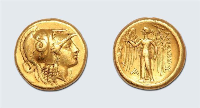 Alexandre, le Grand (336-323 av. J.-C.) Distatère d'or. 17,11 g .