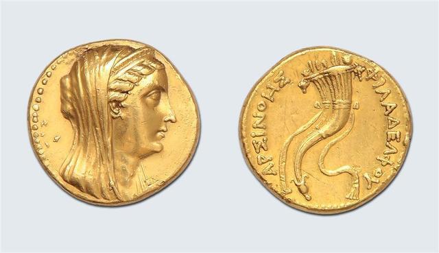 Ptolémée II Philadelphe (285-246 av. J.-C.) Octodrachme d'or. 27,68