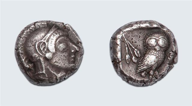 Athènes Tétradrachme. Émission avant l'invasion Perse de 480. 17,31
