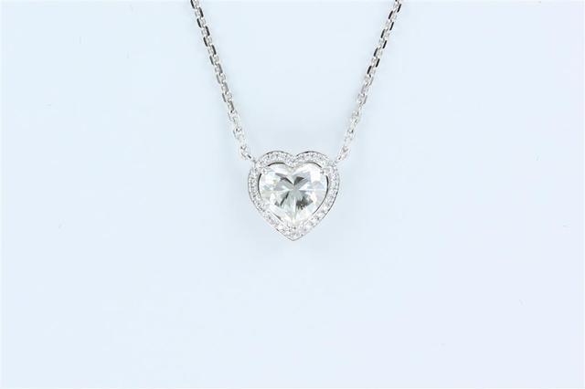 """CHOPARD, Collier pendentif forme """"Coeur"""" orné d'un diamant de 1,50"""