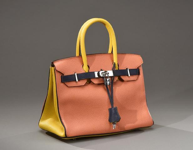 HERMES Paris Made in France, commande spéciale. Sac Birkin 35 cm