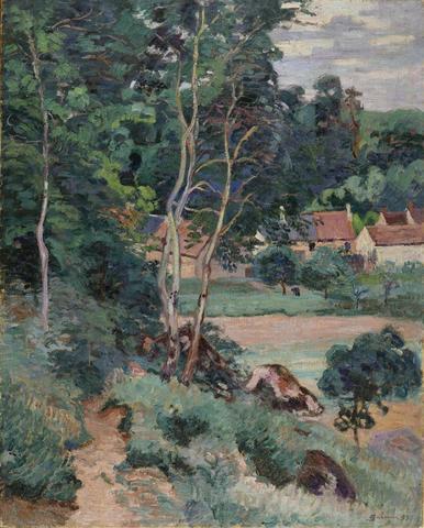Armand Guillaumin (1841-1927) Boigneville 1873 Huile sur toile Signé