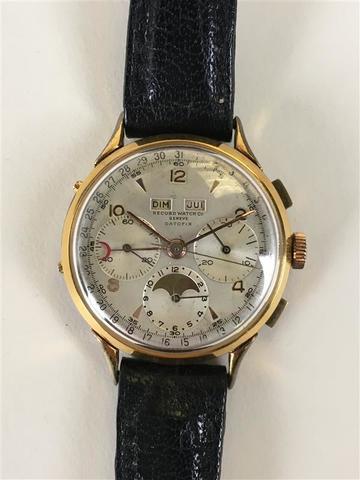 RECORD Watch  Co, Genève. Montre-bracelet d'homme chronographe, modèle
