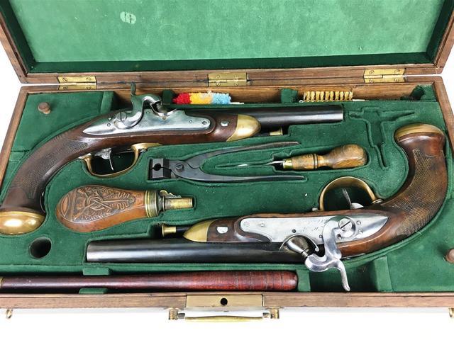 Paire de pistolet d'officier modèle 1816 transformés à percussion,