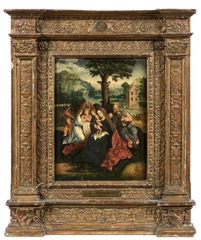 """COFFERMANS Marcellus (actif à Anvers entre 1549 et 1578) """"La Sainte"""