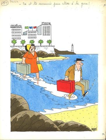 """FAIZANT Jacques (1918-2006) """"Toi et tes raccourcis pour aller à la"""