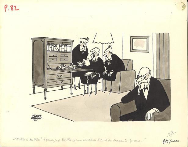 """FAIZANT Jacques (1918-2006) """"Et celle-ci de 1920 """"Epousez moi, Berthe,"""
