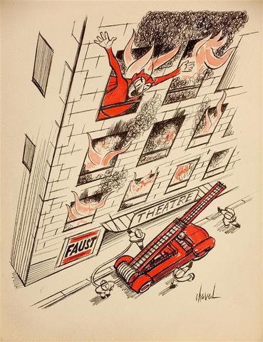 Yvan-Francis LE LOUARN, dit CHAVAL (1915-1968) N° 14. Incendie du