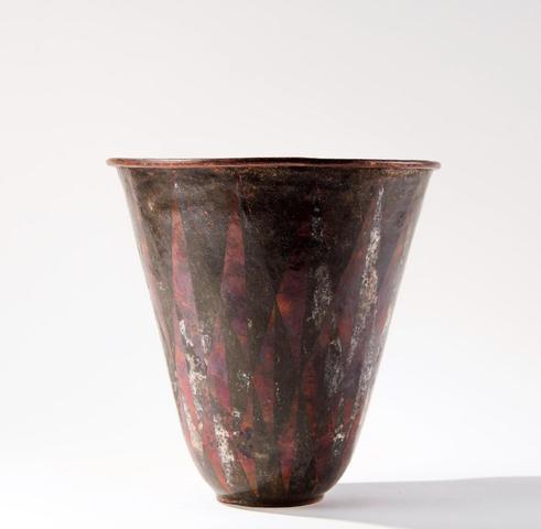 Claudius LINOSSIER (1893-1953). Important vase en dinanderie de cuivre