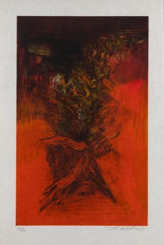 "Zao WOU KI (1920-2013) ""Embrassement spatial""1954. Lithographie couleur,"