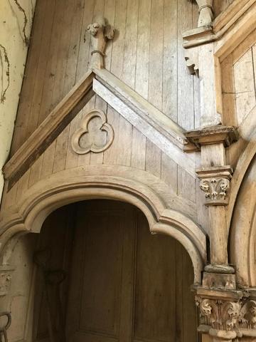 Eléments d'architecture fin XIXème, bois.