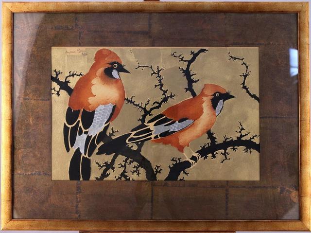 Georges MANZANA-PISSARRO (1871-1961) Couple de geais branchés sur