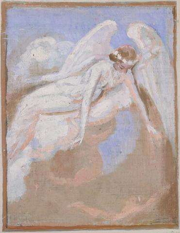 Maurice DENIS (Grandville, 1870 - Paris, 1943) Eloa attirée par