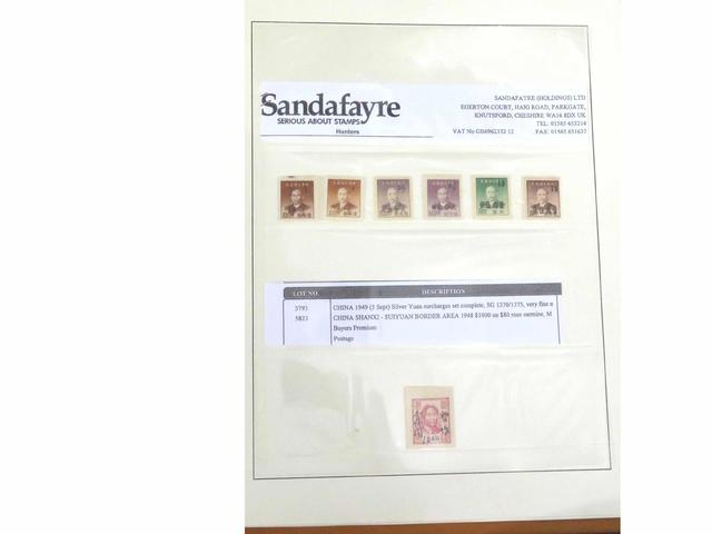 Chine. Classeur de timbres et lettres, etc…