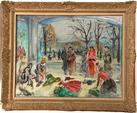 "AndrE HAMBOURG (1909-1999) ""La vitrine des Champs-ElysEes"". Huile"