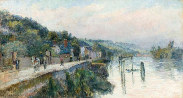 Albert LEBOURG (1849-1928) Bord de Seine Huile sur toile signée