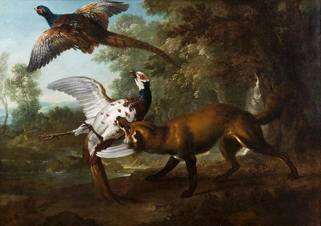 JEAN-BAPTISTE OUDRY (PARIS 1686   BEAUVAIS 1755) Renard poursuivant