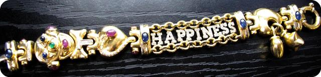 """1 bracelet """"clown happiness"""" serti de brillants, de saphirs cabochons,"""