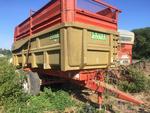 Benne LEBOULCH, 13 tonnes, deux essieux, réhausses ensilage