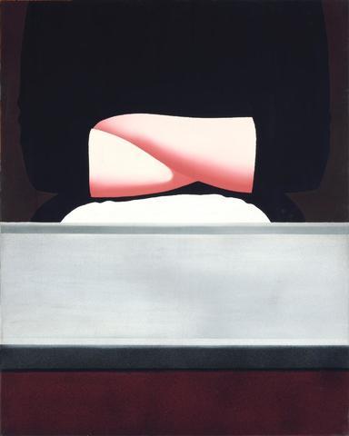 Gérard SCHLOSSER (né en 1931) J?AI MAL AUX JAMBES, 1971 Huile sur