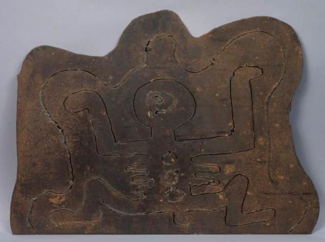 Keith HARING (1958-1990) BEST BUDDY, 1986 Métal incisé 48,5 x 61