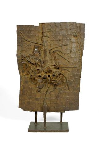 CESAR (1921-1998) PLAQUE TESCONI, 1958 Fer soudé signé sur la