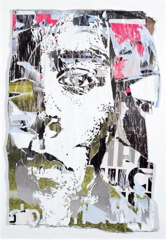 VHILS (Portugais, né en 1987) Cacophony #1 Affiches collectées dans