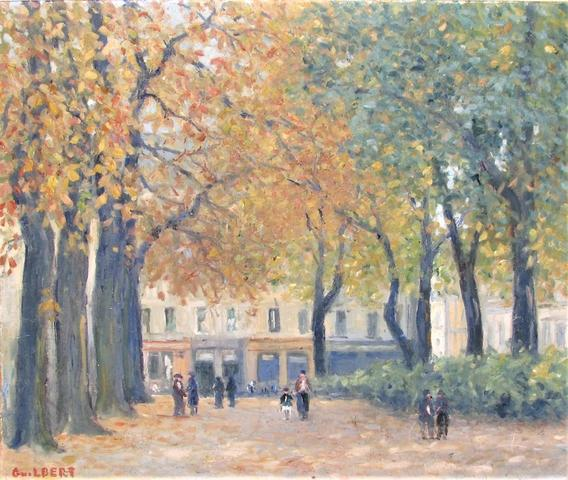 """GUILBERT Narcisse (1878 - 1942) """"La rue des Faulx à Rouen"""" Huile"""