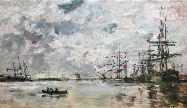 "BOUDIN Eugène (1824 - 1898) ""Le Havre, Bassin de l'Eure"" - circa"