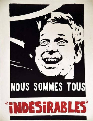 Nous Sommes Tous Indésirables Mai 68 1968 1 Affiche Non-Entoilée