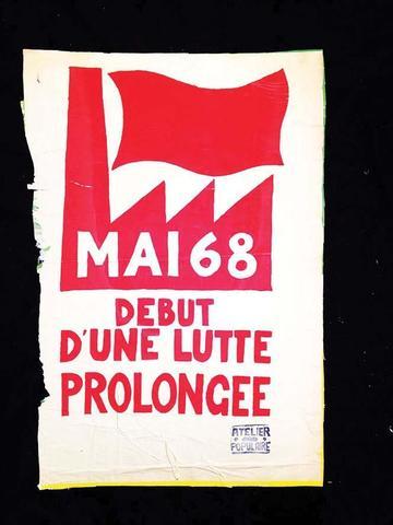 Mai 68 Début d'une Lutte Prolongée Mai 68 1968 Affiche arrachée