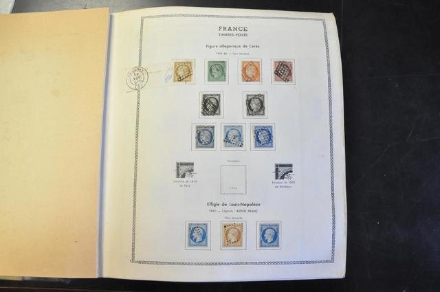 Belle collection de France comprenant : 1 album Thiaude 1849 - 1970